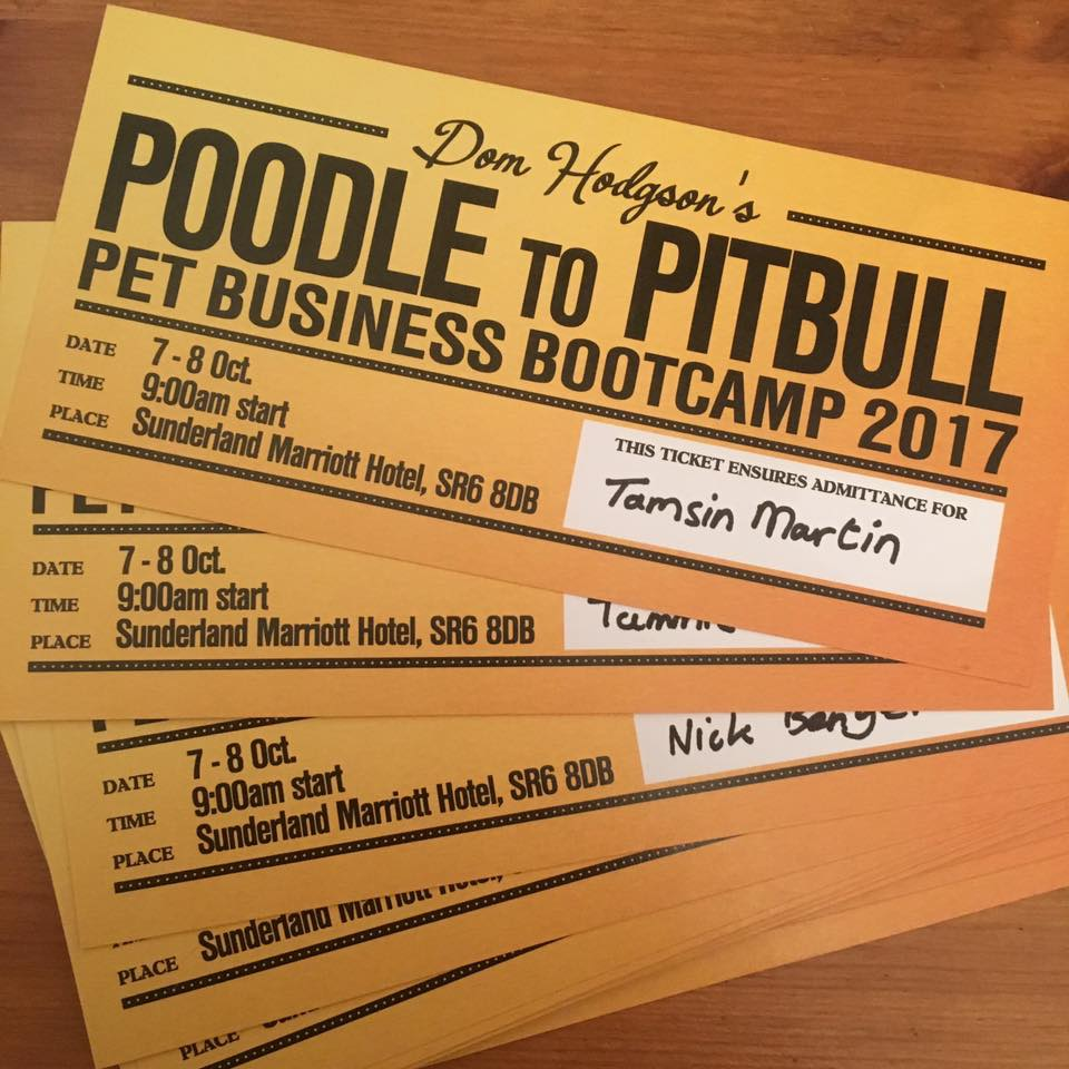Golden Tickets for the Poodle to Pitbull Pet Business Bootcamp